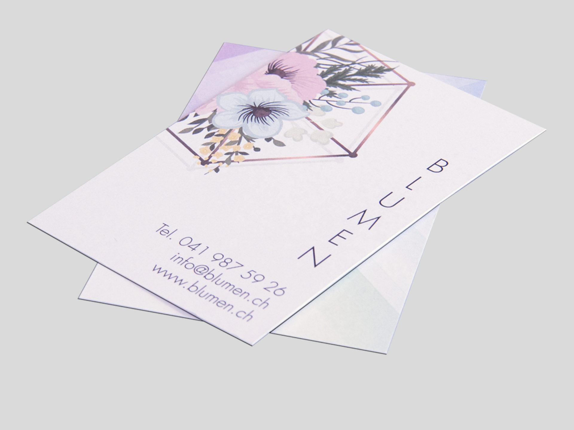 Visitenkarten drucken lassen, Schlüssel Druck, Copyshop