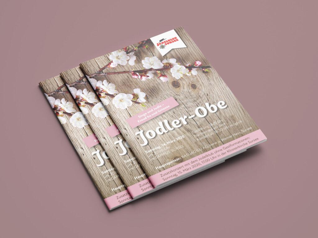 Jodelklub Sursee, Jodler-Obe, Broschüre, Gestaltung, Design