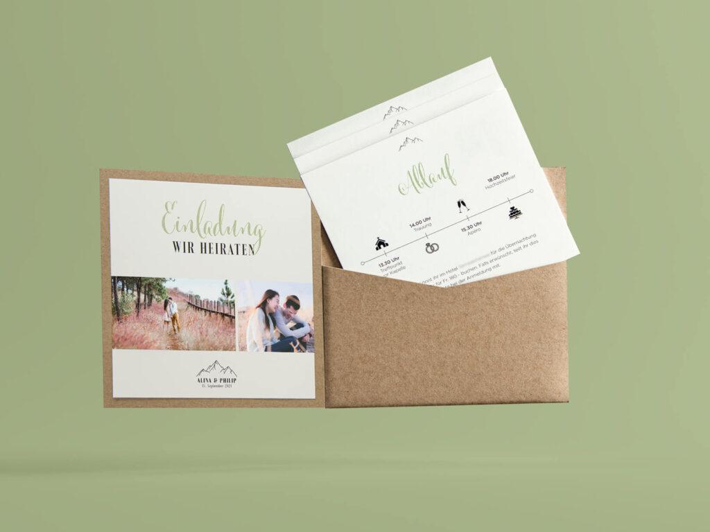 Schlüssel Druck, Sursee, Gestaltung, Hochzeitseinladung, Einsteckhülle, Packpapier, Weissdruck