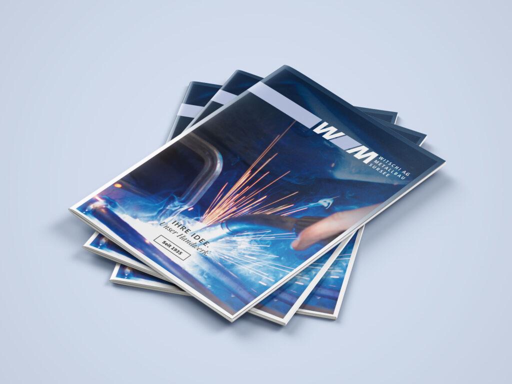 Witschi Metallbau, Broschüre, Gestaltung, Design, Metallbau