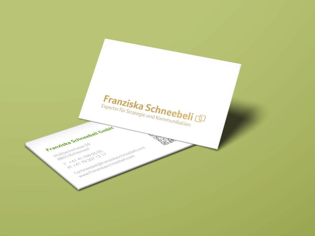 Visitenkarten, Geschäftsdrucksachen, Goldfolie, Branding, Corporate Design